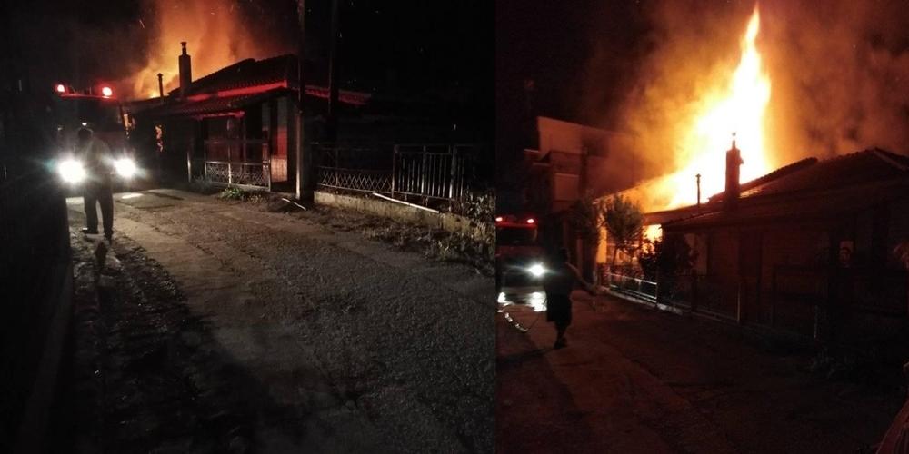 ΣΥΜΒΑΙΝΕΙ ΤΩΡΑ: Κάηκε ολοσχερώς σπίτι στις Καστανιές Ορεστιάδας – Πρόλαβαν και έσωσαν ηλικιωμένη