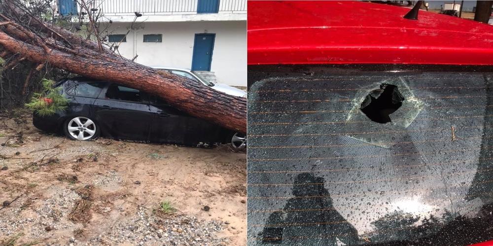Τεράστιες καταστροφές σε Μάκρη, Δίκελλα από φοβερή καταιγίδα με χαλάζι – Καταστροφές σπιτιών, αυτοκινήτων (ΒΙΝΤΕΟ)
