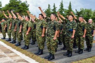 Η ορκομωσία των νεοσυλλέκτων της Γ' ΕΣΣΟ στα στρατόπεδα της 12ης Μεραρχίας Πεζικού