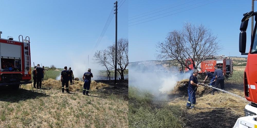 Πυρκαγιά ξέσπασε στο Μοναστηράκι Φερών από καλώδια της ΔΕΗ – Επιτόπου η Πυροσβεστική