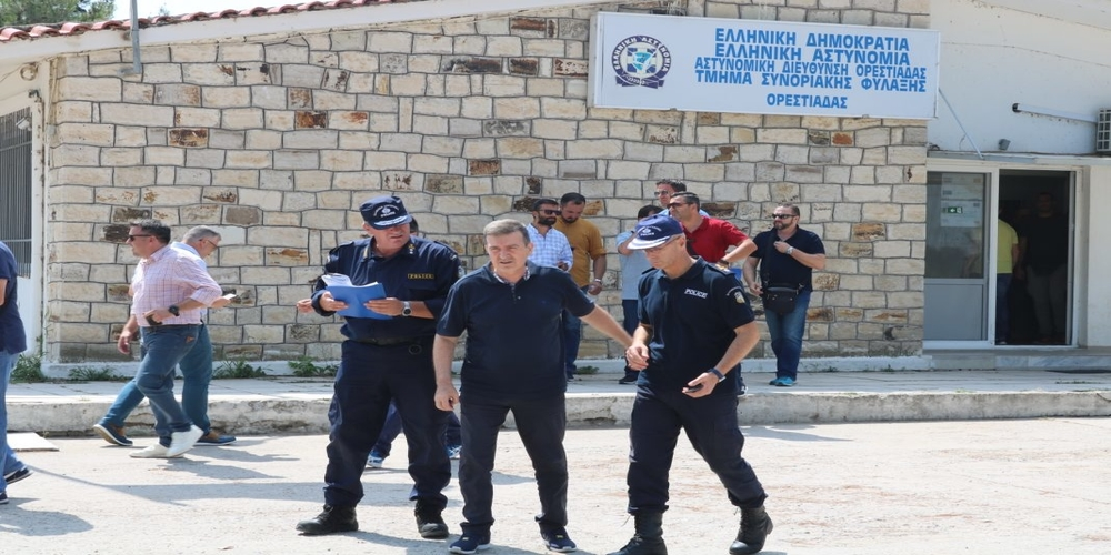 """Χρυσοχοίδης: """"Η επίσκεψη μου στον Έβρο έχει τριπλό σκοπό – Εθνική σημασία η ασφάλεια των συνόρων μας"""" –"""