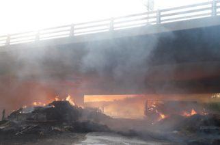 Έβρος: Ελέγχους στις γέφυρες για αποθήκευση ζωοτροφών προγραμματίζει η αστυνομία, μετά την φωτιά στην Εγνατία Οδό