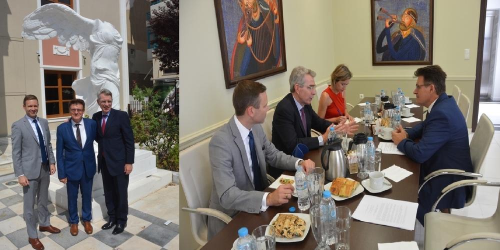 Συνάντηση  Αντιπεριφερειάρχη Έβρου Δημήτρη Πέτροβιτς με τον Αμερικανό Πρέσβη Τζέφρυ Πάιατ
