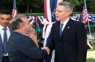 Αμερικανός Πρέσβης Πάιατ: Ποσό 2,3 εκατ. ευρώ επενδύει ο αμερικανικός στρατός στην Αλεξανδρούπολη