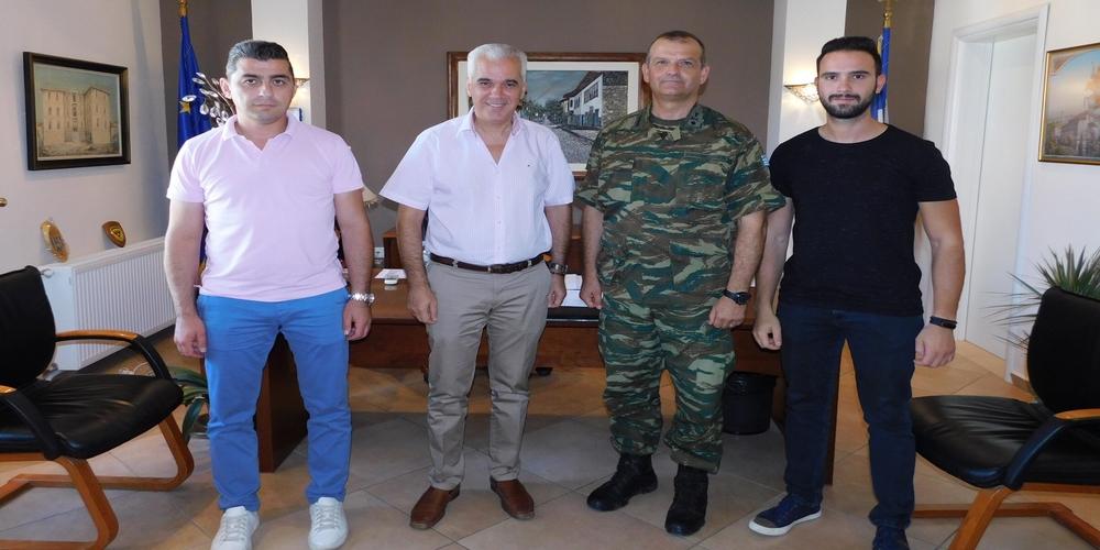 Συνάντηση του Δημάρχου Σουφλίου Παναγιώτη Καλακίκου με τον Διοικητή της 50ης Ταξιαρχίας