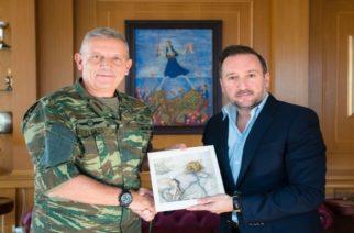 Επίσκεψη Διοικητή 1ης Στρατιάς Αντιστράτηγου Φλώρου στον δήμαρχο Αλεξανδρούπολης Γιάννη Ζαμπούκη