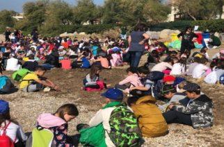 Kαθαρισμός της ακτής «Στροφή Εγνατία – Ρέμα Βανικιώτη» από μαθητές σχολείων του Δήμου Αλεξανδρούπολης