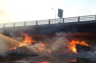 Εγνατία Οδός: Ξεκίνησαν εργαστηριακοί έλεγχοι στη γέφυρα που κάηκε – Πότε θα ανοίξει το κλειστό ρεύμα
