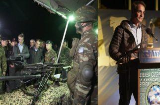 """Αλεξανδρούπολη: Εντυπωσιασμένος απ την χθεσινοβραδινή στρατιωτική άσκηση """"Παρμενίων 2019"""" ο Πρωθυπουργός Κυριάκος Μητσοτάκης (φωτορεπορτάζ)"""