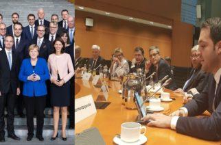 Παρουσία Δερμεντζόπουλου στη Γερμανική Βουλή και ερώτηση στην Καγκελάριο Άνγκελα Μέρκελ για το μεταναστευτικό