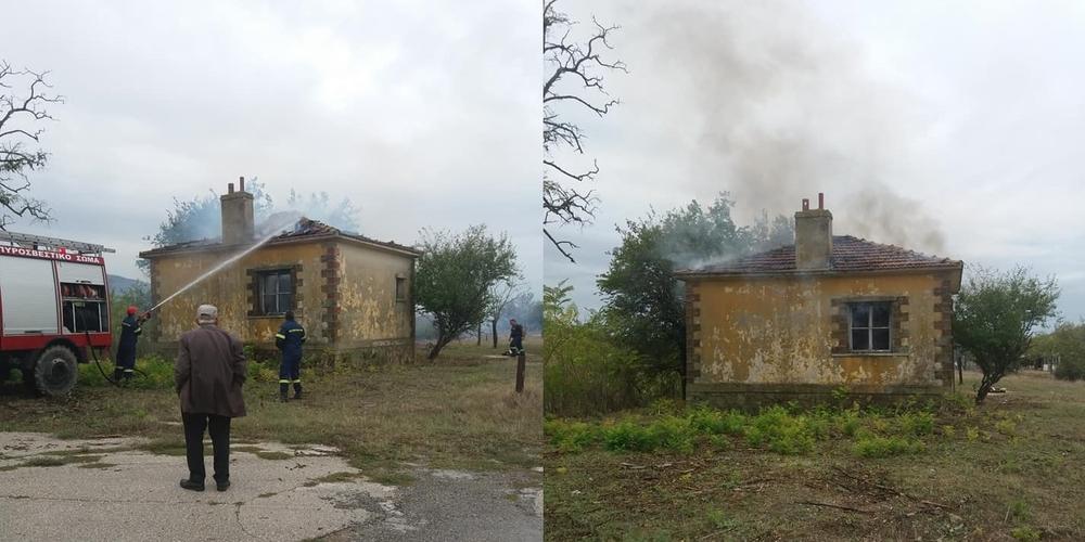 ΤΩΡΑ: Πυρκαγιά στον Πέπλο σε κτίριο του ΟΣΕ – Επιτόπου η Πυροσβεστική