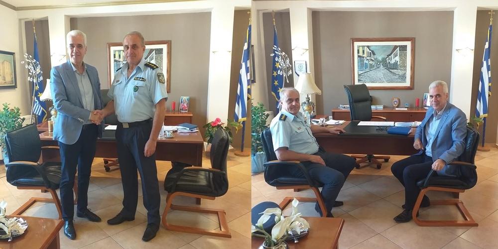 Σουφλί: Συνάντηση του δημάρχου Παναγιώτη Καλακίκου με τον Αστυνομικό Διευθυντή Π.Καρτάλη