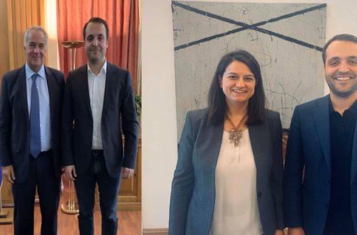 Συναντήσεις με τους υπουργούς Βορίδη, Κεραμέως για αγροτικά και εκπαιδευτικά προβλήματα ο βουλευτής Χρήστος Δερμεντζόπουλος