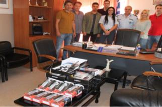 Δωρεά ασυρμάτων και συσκευών φωτισμού από την Ένωση Αστυνομικών στην Αστυνομική Διεύθυνση Αλεξανδρούπολης