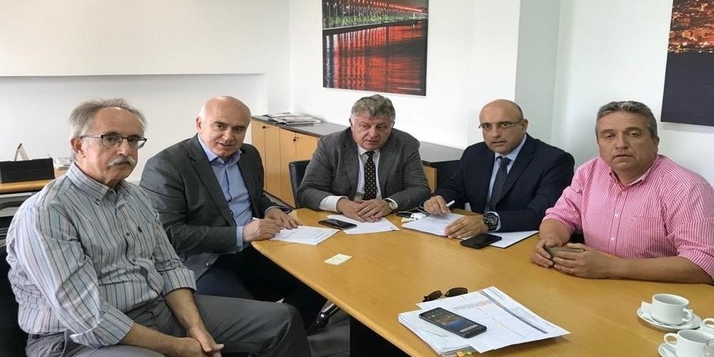 Συνάντηση του Περιφερειάρχη ΑΜΘ Χρήστου Μέτιου με τη νέα διοίκηση της Εγνατίας Οδού