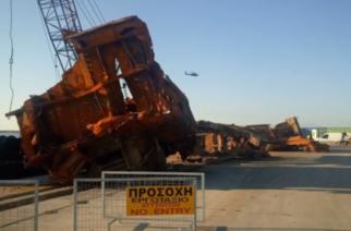 """Μια εβρίτικη εταιρεία συμμετείχε στην ανέλκυση και ανακύκλωση του ναυαγίου της βυθοκόρου """"Όλγα"""""""
