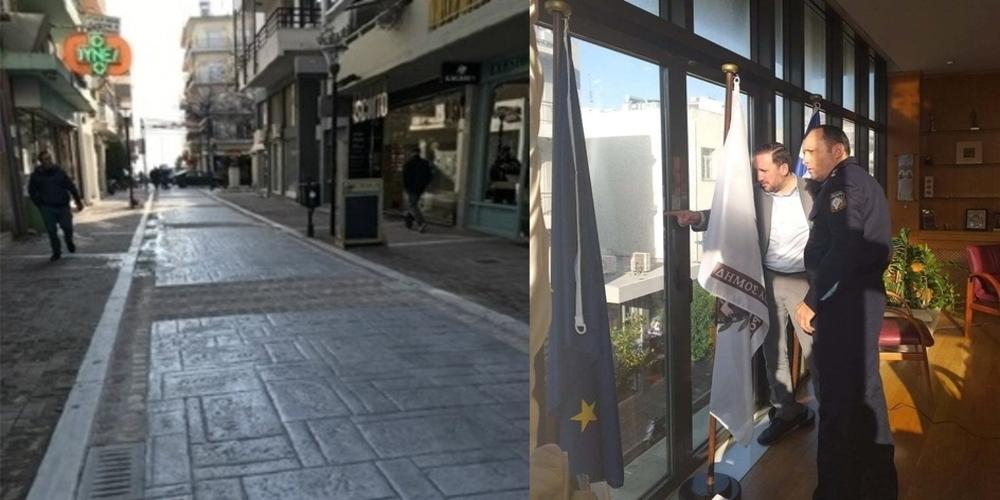 Άρχισε η αντίστροφη μέτρηση για κατάργηση του πεζόδρομου της οδού Κύπρου – Συνάντηση Γ.Ζαμπούκη-Διοικητή Τροχαίας