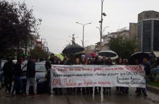 Ορεστιάδα: Ούτε η έντονη βροχή σταμάτησε την δικαιολογημένη διαμαρτυρία-κινητοποίηση των φοιτητών του ΔΠΘ