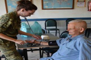 Επίσκεψη και δωρεάν εξετάσεις στο χωριό Μηλέα Ορεστιάδας από Στρατιωτικό Ιατρικό Κλιμάκιο