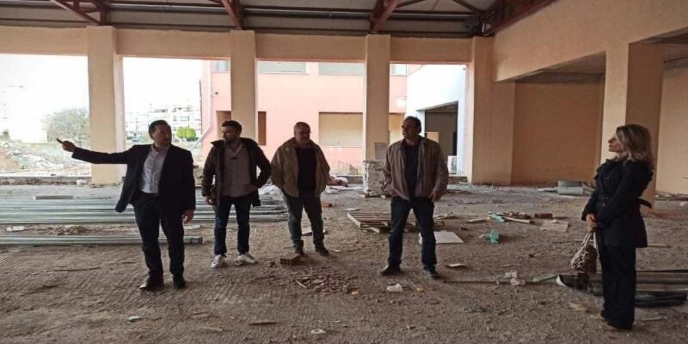 Επίσκεψη και ενημέρωση του δημάρχου Γιάννη Ζαμπούκη στον χώρο ανέγερσης των σχολείων περιοχής ΚΕΓΕ