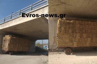 Σουφλί: Κάποιοι δεν βάζουν μυαλό – Πλατφόρμα γεμάτη χορτόμπαλες κάτω από γέφυρα του κάθετου άξονα