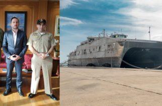 Αλεξανδρούπολη: Συνάντηση του δημάρχου Γιάννη Ζαμπούκη με τους καπετάνιους του αμερικανικού πολεμικού πλοίου