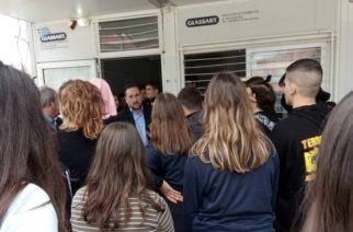 Συνάντηση-συζήτηση του δημάρχου Αλεξανδρούπολης με τους μαθητές του Λυκείου Φερών που έκαναν κατάληψη