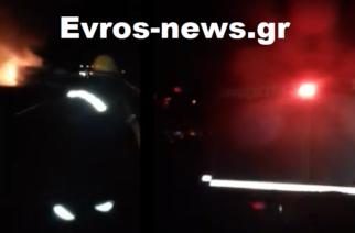 Εγνατία Οδός ΤΩΡΑ: Φορτηγό τυλίχθηκε στις φλόγες λίγο πριν τους Κήπους (ΒΙΝΤΕΟ)