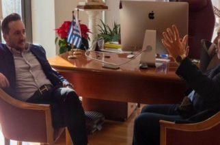 Συνάντηση του δημάρχου Αλεξανδρούπολης με τον επανεκλεγέντα Πρόεδρο του ΤΕΕ Θράκης Δημήτρη Λουρίκα