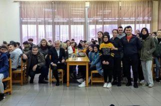 Σουφλί: Πρωινό με μαθητές και μαθήτριες της Μαθητικής Εστίας Σουφλίου πήρε ο δήμαρχος Παναγιώτης Καλακίκος
