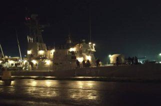 """Η κανονιοφόρος """"ΚΑΣΟΣ"""" στην Αλεξανδρούπολη για τις εκδηλώσεις εορτασμού του Αγίου Νικολάου"""