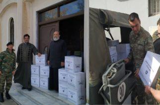 Αλεξανδρούπολη: Δέματα με τρόφιμα από την 12η Μεραρχία σε άπορες οικογένειες
