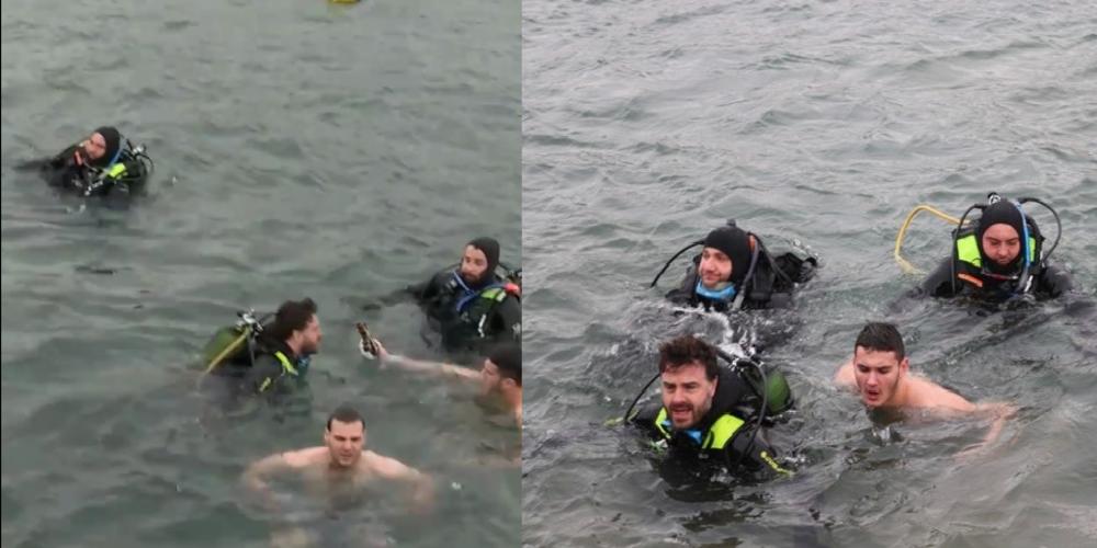 Ο Αντιπεριφερειάρχης που βούτηξε και φέτος στα παγωμένα νερά της Αλεξανδρούπολης (ΒΙΝΤΕΟ+φωτό)