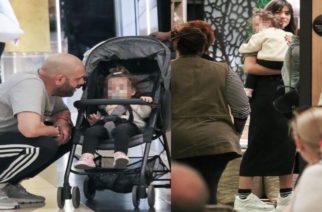 Μιχάλης Stavento και Ήβη Αδάμου σε οικογενειακή βόλτα με την κορούλα τους