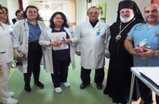 Το Νοσοκομείο Διδυμοτείχου επισκέφθηκε στις γιορτές ο Σεβασμιότατος Μητροπολίτης κ.Δαμασκηνός