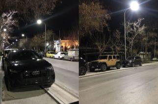 Οκτώ πολυτελή τουρκικά αυτοκίνητα πάρκαραν πάνω στον υπό κατασκευή ποδηλατόδρομο – Ξήλωσε πινακίδες η Τροχαία