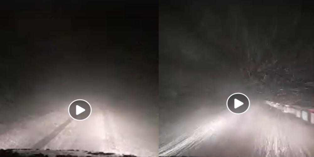 ΒΙΝΤΕΟ: Ξεκίνησε και χιονίζει εδώ και λίγη ώρα στην Σαμοθράκη