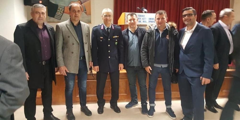 Η Ένωση Συνοριακών Φυλάκων Έβρου παραβρέθηκε στην τελετή παράδοσης-παραλαβής του Γενικού Περιφερειακού Αστυνομικού Διευθυντή ΑΜ-Θ