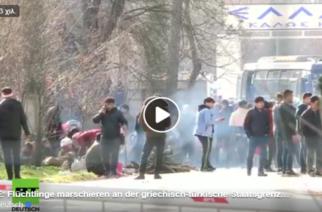 """Ζωντανή μετάδοση Ρώσικων καναλιών από Καστανιές: """"Πρόσφυγες και μετανάστες παρελαύνουν προς Ευρώπη απ' τα ελληνοτουρκικά σύνορα"""""""