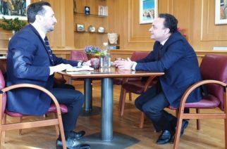 Συνεργασία για θέματα του δήμου Αλεξανδρούπολης, είχαν οι Σταύρος Κελέτσης και Γιάννης Ζαμπούκης