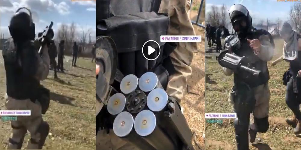 Η τουρκική Στρατοφυλακή αυτή που ρίχνει τα δακρυγόνα στους Έλληνες αστυνομικούς και στρατιώτες (ΒΙΝΤΕΟ)