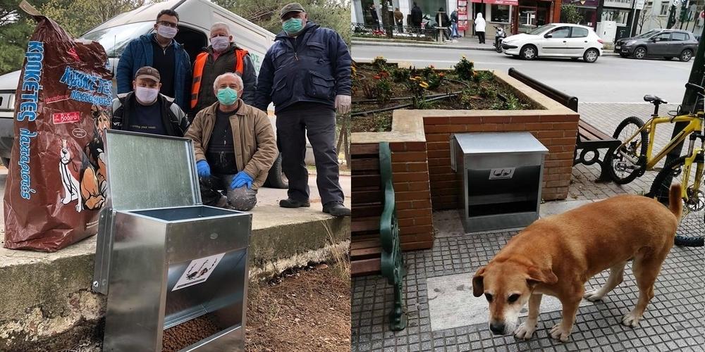 Ταΐστρες για τα αδέσποτα ζώα τοποθετήθηκαν απ' τον δήμο σε σημεία της Αλεξανδρούπολης