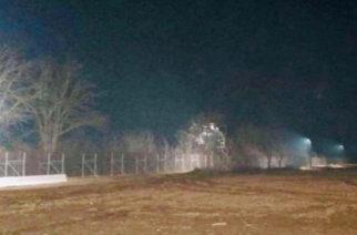 Φωταγωγήθηκαν τα ελληνοτουρκικά σύνορα στον Έβρο κατά μήκος του φράχτη