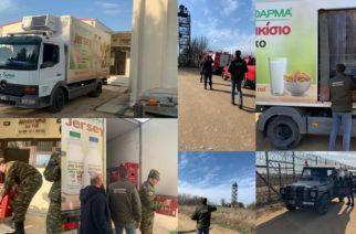 Προϊόντα της προσέφερε η γαλακτοβιομηχανία ΕΒΡΟΦΑΡΜΑ, στους αστυνομικούς και στρατιωτικούς στα σημεία που περιφρουρούν