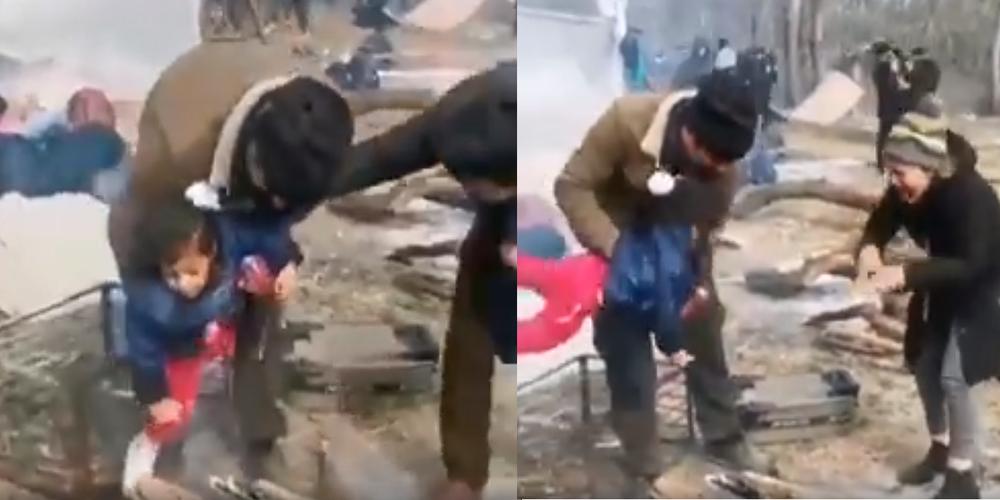 ΒΙΝΤΕΟ: Απίστευτη, απάνθρωπη προπαγάνδα λαθρομεταναστών -Βάζουν παιδιά πάνω στη φωτιά, για να είναι δακρυσμένα