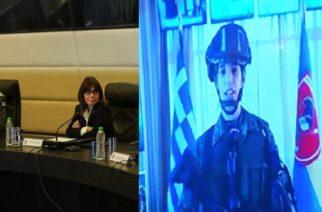 Συγκίνησε η ανθυπολοχαγός από τις Καστανιές στην τηλεσυζήτηση με την Πρόεδρο της Δημοκρατίας