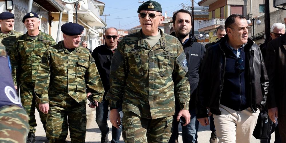 Στον Έβρο Τετάρτη 25 Μαρτίου ο υπουργός Άμυνας Νίκος Παναγιωτόπουλος και ο Αρχηγός ΓΕΕΘΑ