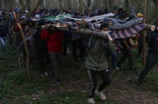 Με αυτοσχέδιες ξύλινες σκάλες προσπάθησαν χθες λαθρομετανάστες να περάσουν τα σύνορα (ΒΙΝΤΕΟ+φωτό)