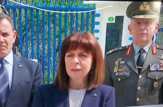 Σακελλαροπούλου: Βρίσκομαι σήμερα Πάσχα στις Καστανιές, για να τιμήσω τους φύλακες των συνόρων μας