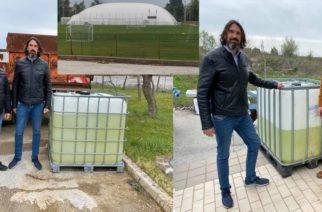 Αλεξανδρούπολη: Εισπράττει 130.000 ευρώ απ' τον δήμο, πρότεινε δωρεά απολυμαντικού αξίας… 100 ευρώ(!!!) που τελικά απέσυρε